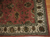 5'11'' X 8'11'' Overall Traditional Persian Tabriz Beige Rectangular Wool & Silk Rug