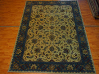 8'6'' X 11'7'' Decorative Wool Tan Rectangle Persian Tabriz Rug