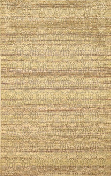 "4'6""x7'1"" Contemporary Tan Wool Hand-Tufted Rug"