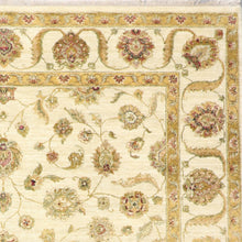 "Load image into Gallery viewer, 8'10""x11'11"" Traditional Ivory Wool & Silk Hand-Knotted Rug"