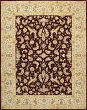 "Load image into Gallery viewer, 7'8""x9'10"" Traditional Tabriz Burgundy Wool & Silk Hand-Tufted Rug"