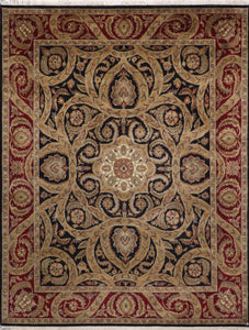 "8'x10'4"" Traditional Wool Hand-Knotted Rug"
