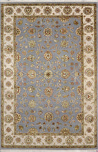 "Load image into Gallery viewer, 5'11""x9' Traditional Gray Tabriz Wool & Silk Hand-Knotted Rug - Direct Rug Import 