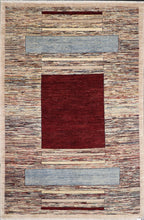"Load image into Gallery viewer, 5'7""x8'4"" Contemporary Burgundy Wool Hand-Knotted Rug - Direct Rug Import 