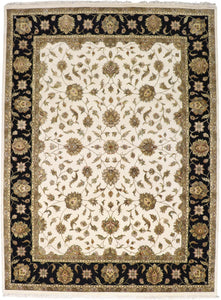 "8'11""x12'1"" Traditional Wool & Silk Hand-Knotted Rug - Direct Rug Import 