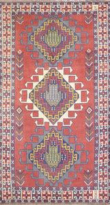 "3'6""x6'7"" Traditional Tribal Persian Wool Hand-Knotted Rug - Direct Rug Import 