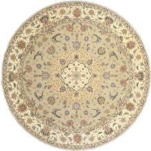 "Load image into Gallery viewer, 8'6""x8'6"" Decorative Green Wool & Silk Hand-Tufted Rug - Direct Rug Import 