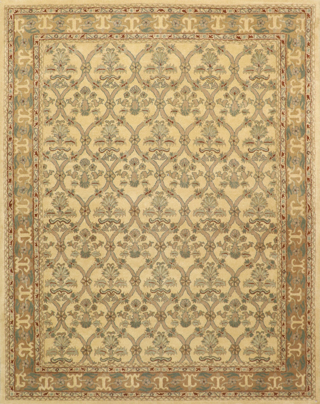 "7'11""x10'1"" Traditional Overall Wool Hand-Tufted Rug"