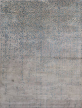 "Load image into Gallery viewer, 7'9""x10'5"" Transitional Wool & Silk Hand-Tufted Rug"