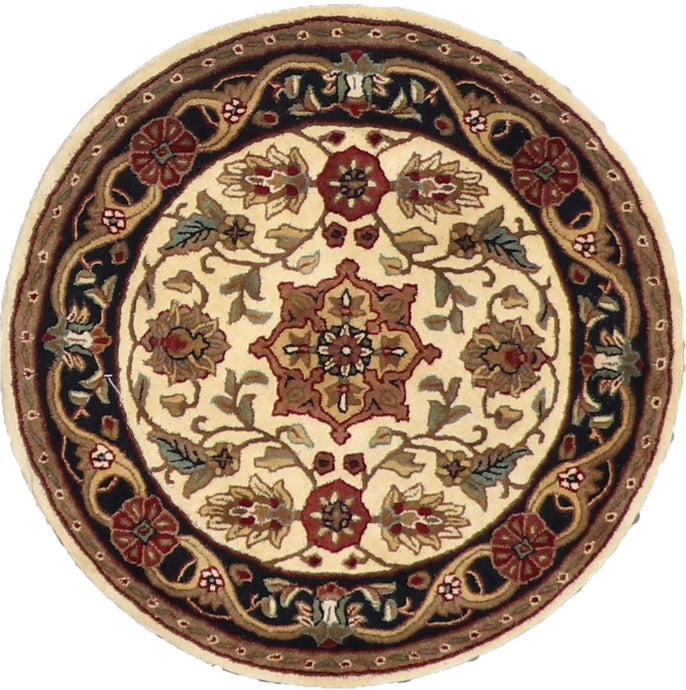 3'x3' Decorative Round Wool Rug - Direct Rug Import | Rugs in Chicago, Indiana,South Bend,Granger