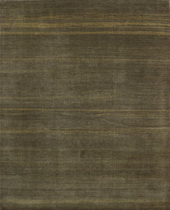 "8'2""x10'2"" Contemporary Green Wool Hand-Knotted Rug"