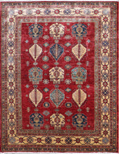 "Load image into Gallery viewer, 4'9""x6'4"" Decorative Red Kasak Wool Hand-Tufted Rug - Direct Rug Import 
