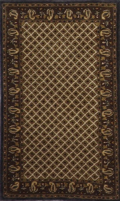 "3'x4'11"" Decorative Ivory Wool Hand-Tufted Rug - Direct Rug Import 