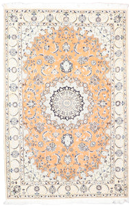 "4'4""x6'7"" Traditional Wool & Silk Hand-Knotted Rug - Direct Rug Import 