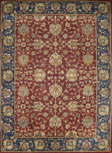 "8'7""x11'10"" Traditional Red Wool Hand-Tufted Rug - Direct Rug Import 