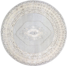 "Load image into Gallery viewer, 9'10""x9'10"" Decorative Round Vintage Wool & Silk Hand-Tufted Rug - Direct Rug Import 