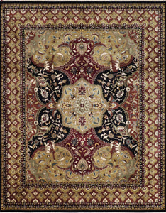 "8'x10'5"" Traditional Polynesian Wool Hand-Knotted Rug"