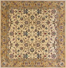 "Load image into Gallery viewer, 5'6""x5'7"" Traditional Tan Wool Hand-Tufted Rug - Direct Rug Import 