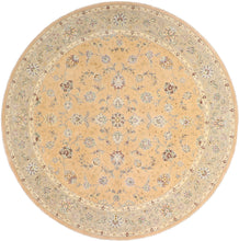 "Load image into Gallery viewer, 8'6""x8'6"" Traditional Round Wool & Silk Hand-Tufted Rug - Direct Rug Import 