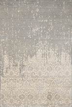 "Load image into Gallery viewer, 6'x8'10"" Transitional Gray Wool & Silk Hand-Knotted Rug - Direct Rug Import 