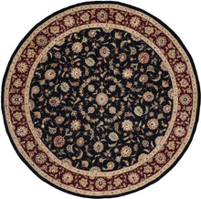 "Load image into Gallery viewer, 8'11""x8'11"" Traditional Round Wool & Silk Hand-Tufted Rug - Direct Rug Import 