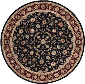 "8'11""x8'11"" Traditional Round Wool & Silk Hand-Tufted Rug - Direct Rug Import 