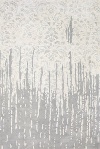 6'x9' Transitional Gray Wool & Silk Hand-Tufted Rug - Direct Rug Import | Rugs in Chicago, Indiana,South Bend,Granger