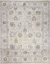 "Load image into Gallery viewer, 9'1""x11'8"" Traditional Gray Wool & Silk Hand-Knotted Rug - Direct Rug Import 