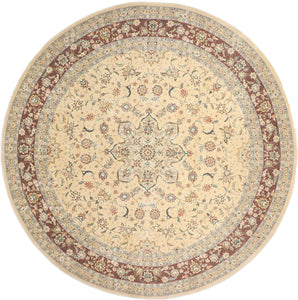 "9'11""x9'11"" Decorative Round Wool & Silk Rug - Direct Rug Import 