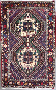 "4'x6'4"" Traditional Wool Hand-Knotted Rug - Direct Rug Import 