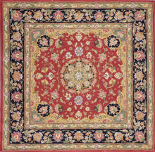 "Load image into Gallery viewer, 5'7""x5'7"" Traditional Red Wool & Silk Hand-Tufted Rug - Direct Rug Import 