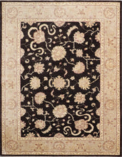 Load image into Gallery viewer, 6'x8' Traditional Black Kashan Wool Hand-Knotted Rug - Direct Rug Import | Rugs in Chicago, Indiana,South Bend,Granger