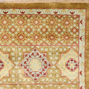 "5'x8'2"" Traditional Brown Wool Hand-Knotted Rug - Direct Rug Import 