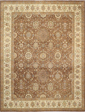"Load image into Gallery viewer, 7'11""x10'5"" Traditional Brown Kashan Wool Hand-Knotted Rug - Direct Rug Import 