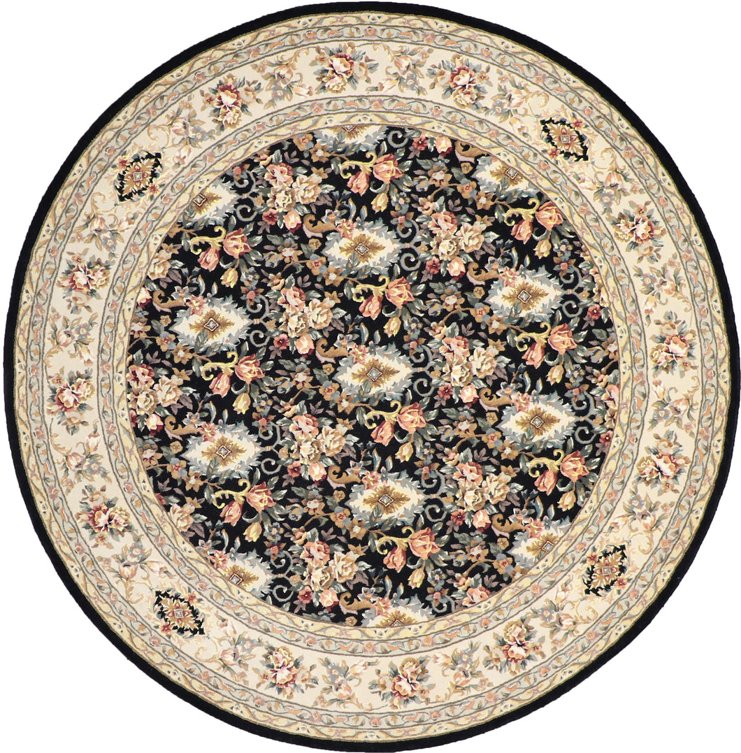 8'x8' Decorative Round Wool & Silk Rug Hand-Tufted - Direct Rug Import | Rugs in Chicago, Indiana,South Bend,Granger