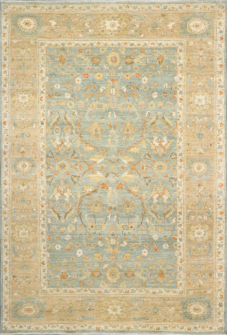 6'x9' Traditional Teal Classic Antique Wool Hand-Knotted Rug