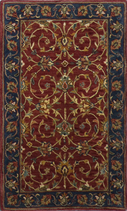 3'x5' Decorative Burgundy Wool Hand-Tufted Rug - Direct Rug Import | Rugs in Chicago, Indiana,South Bend,Granger