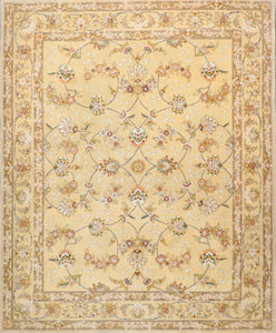"7'11""x9'8"" Traditional Wool & Silk Hand-Tufted Rug"