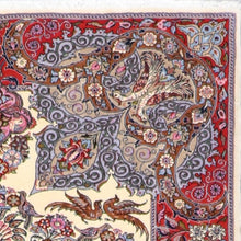 "Load image into Gallery viewer, 4'4""x6'5"" Traditional Persian Tabriz Wool Hand-Knotted Rug"