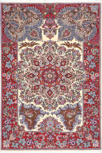 "4'4""x6'5"" Traditional Persian Tabriz Wool Hand-Knotted Rug"