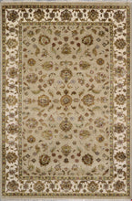 "Load image into Gallery viewer, 6'x8'11"" Traditional Tan Tabriz Wool & Silk Hand-Knotted Rug - Direct Rug Import 