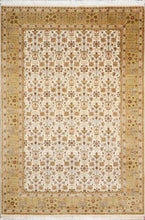 "Load image into Gallery viewer, 5'7""x8'4"" Decorative Ivory Bejar Wool & Silk Hand-Knotted Rug - Direct Rug Import 