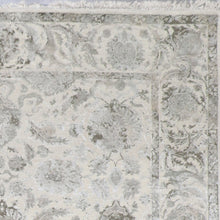 "Load image into Gallery viewer, 8'1""x9'7"" Transitional Gray Kashmir Wool & Silk Hand-Knotted Rug - Direct Rug Import 
