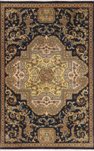 5'x8' Traditional Tan Wool Hand-Knotted Rug - Direct Rug Import | Rugs in Chicago, Indiana,South Bend,Granger