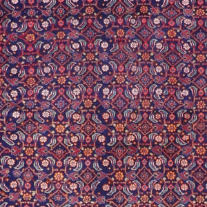 "4'4""x6'6"" Traditional Persian Wool Hand-Knotted Rug"