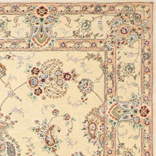 "Load image into Gallery viewer, 7'8""x9'7"" Traditional Tabriz Wool & Silk Hand-Tufted Rug"