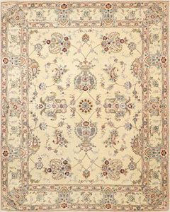 "7'8""x9'7"" Traditional Tabriz Wool & Silk Hand-Tufted Rug"
