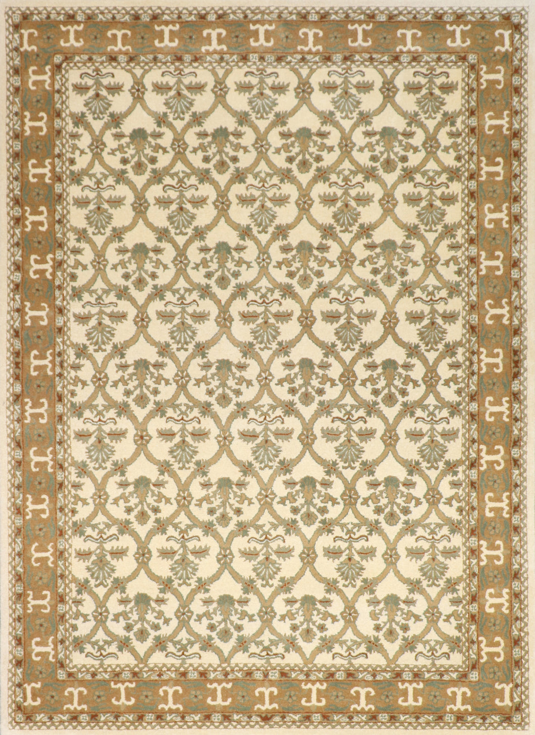 8'x11' Traditional Wool Hand-Tufted Rug