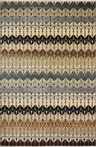 "6'1""x8'9"" Contemporary Multi-Colored Gabbeh Wool Hand-Knotted Rug - Direct Rug Import 