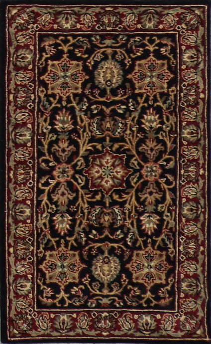 3'x5' Traditional Black Wool Hand-Tufted Rug - Direct Rug Import | Rugs in Chicago, Indiana,South Bend,Granger